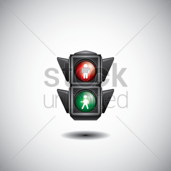 pedestrian crossing traffic signal vector graphic