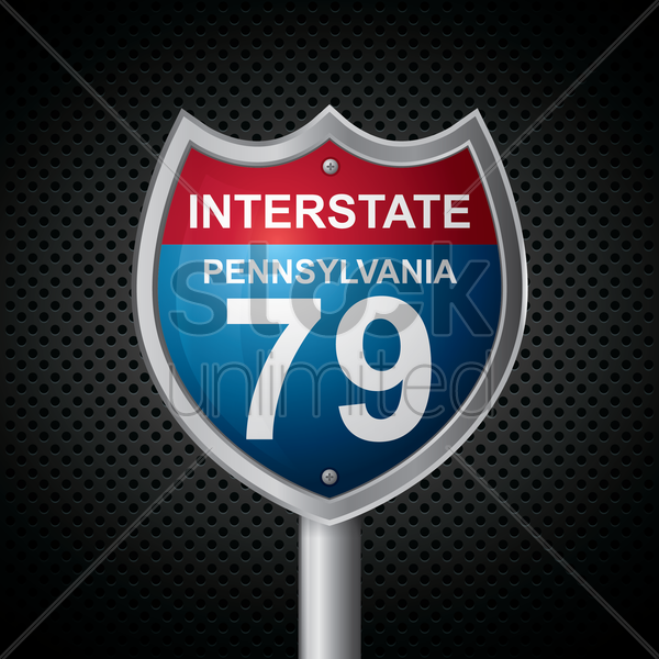 pennsylvania 79 route sign vector graphic