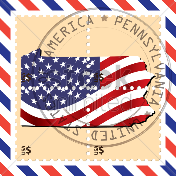 pennsylvania stamp vector graphic