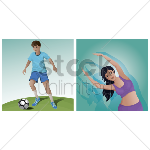 people and leisure activity set vector graphic