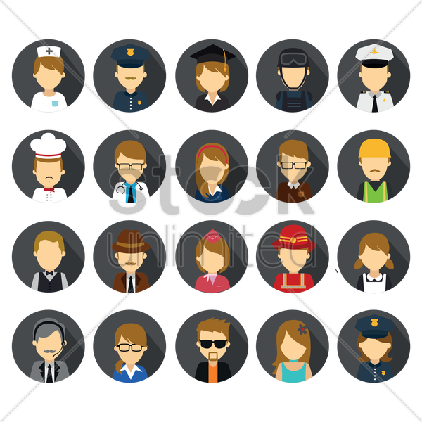 people collection vector graphic