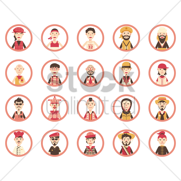people icon vector graphic