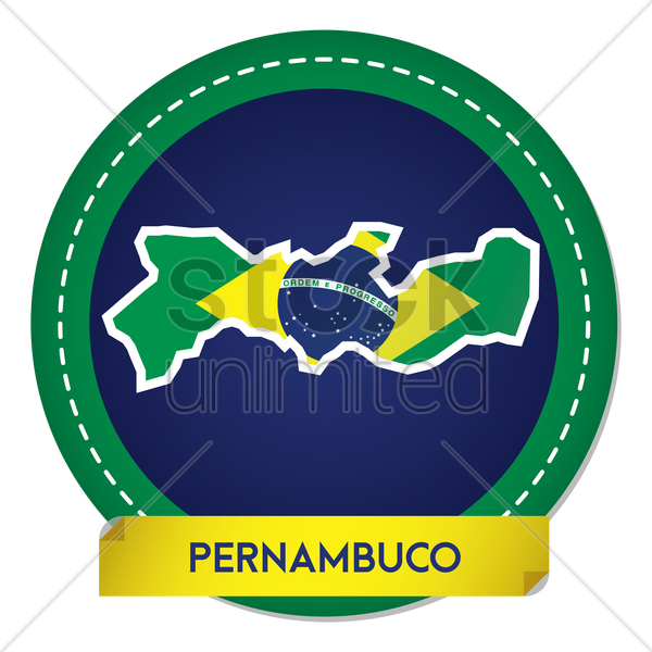pernambuco map sticker vector graphic