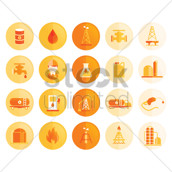 petroleum icons vector graphic