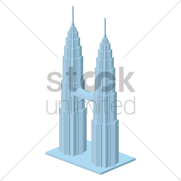 petronas towers vector graphic