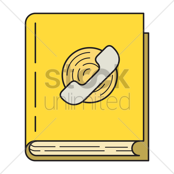 phone book icon vector graphic