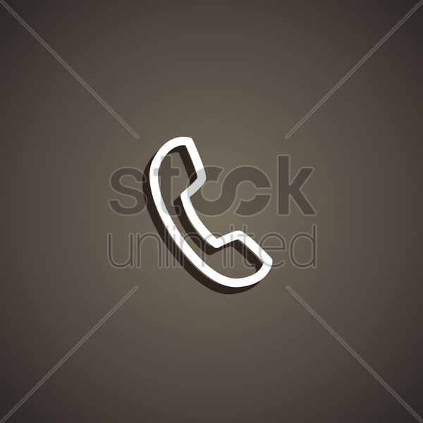 phone call icon vector graphic