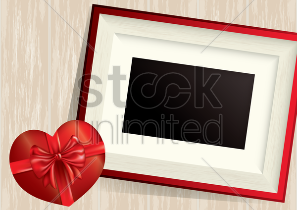 photo frame with heart vector graphic