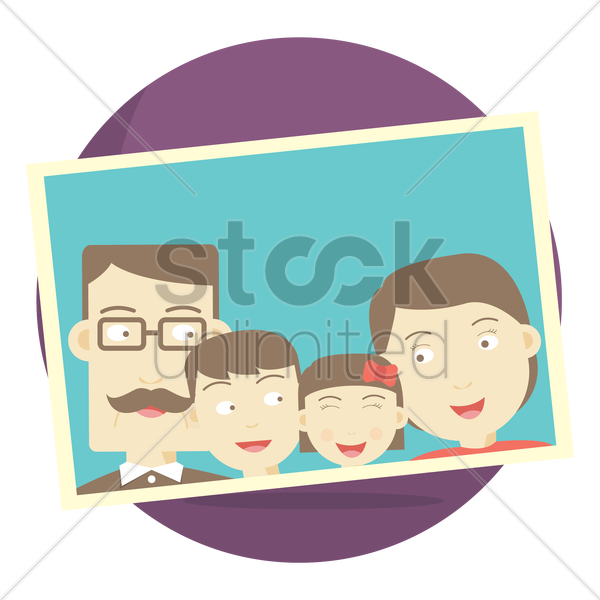 photograph of a family vector graphic