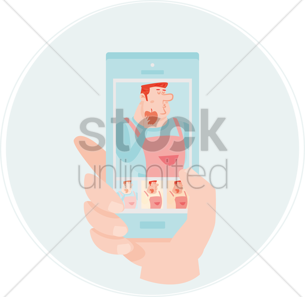 Free photograph of chef in a smartphone vector graphic