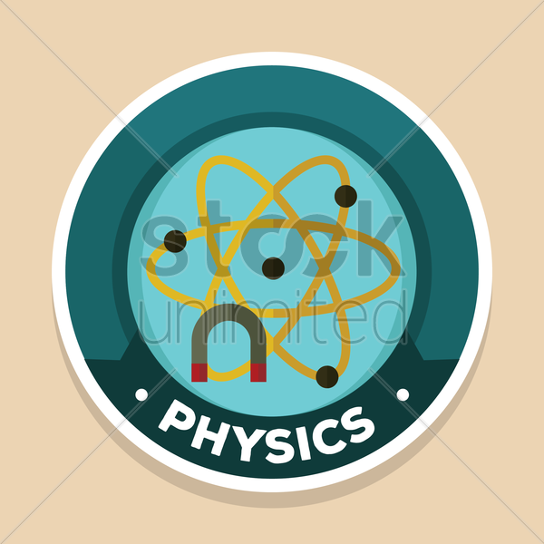 physics label vector graphic