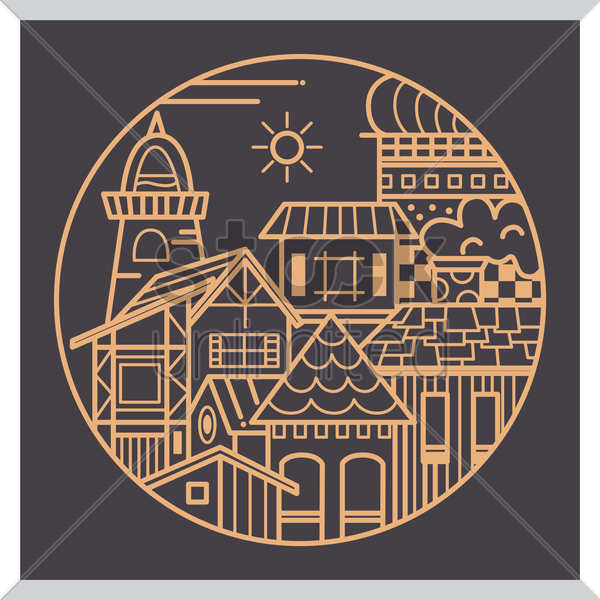 pictogram of city vector graphic