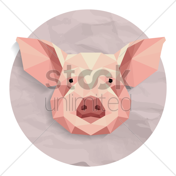 pig vector graphic