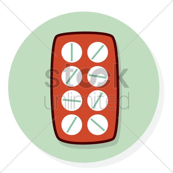 pills in blister pack vector graphic