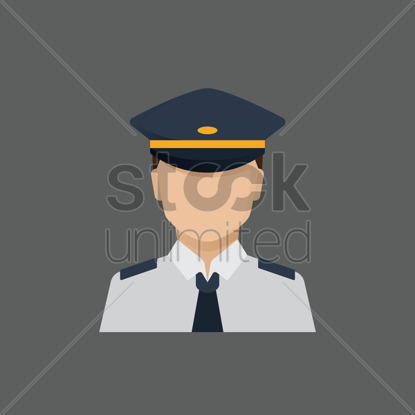 Free pilot vector graphic