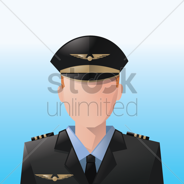 pilot vector graphic