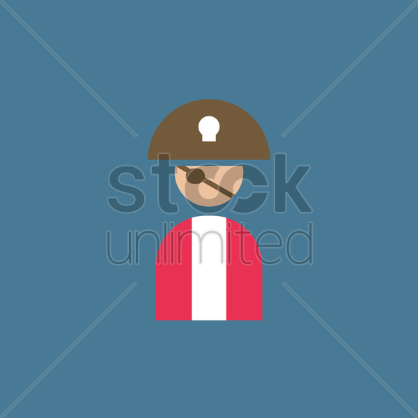 pirate vector graphic