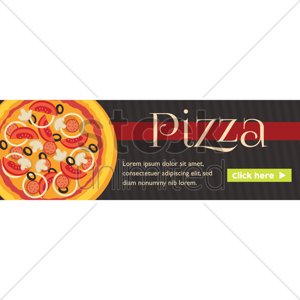 pizza banner vector graphic