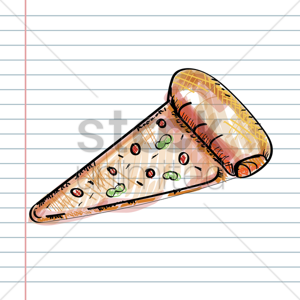 pizza slice vector graphic