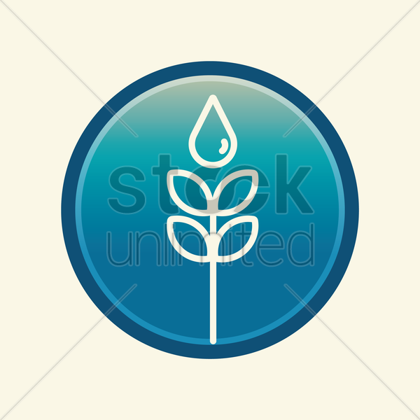 plant with water drop vector graphic