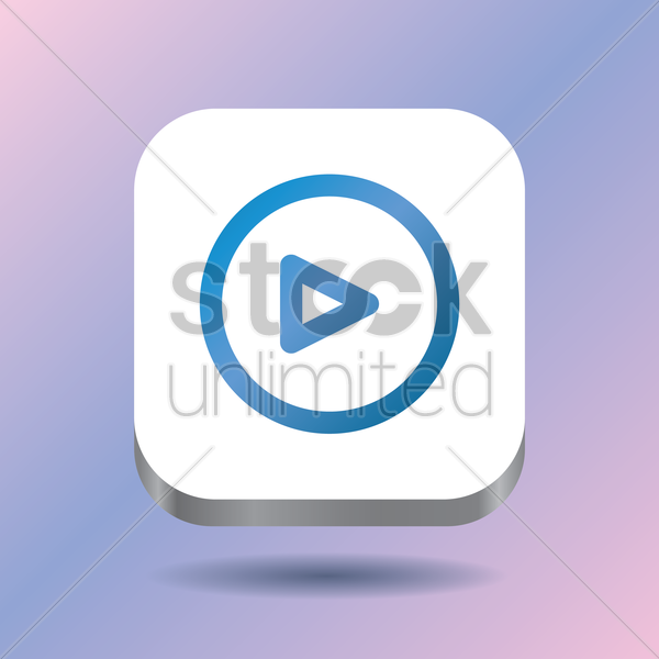 play icon vector graphic