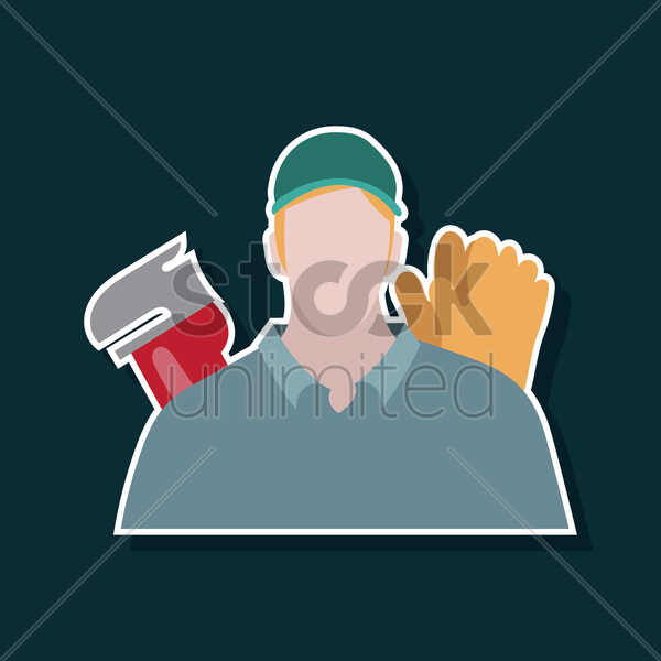 plumber vector graphic