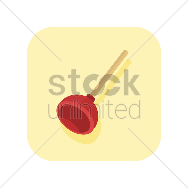 plunger vector graphic
