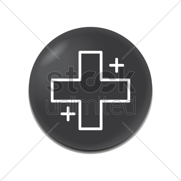 plus icon vector graphic