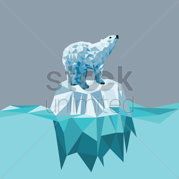 polar bear vector graphic