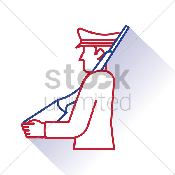 policeman with rifle vector graphic