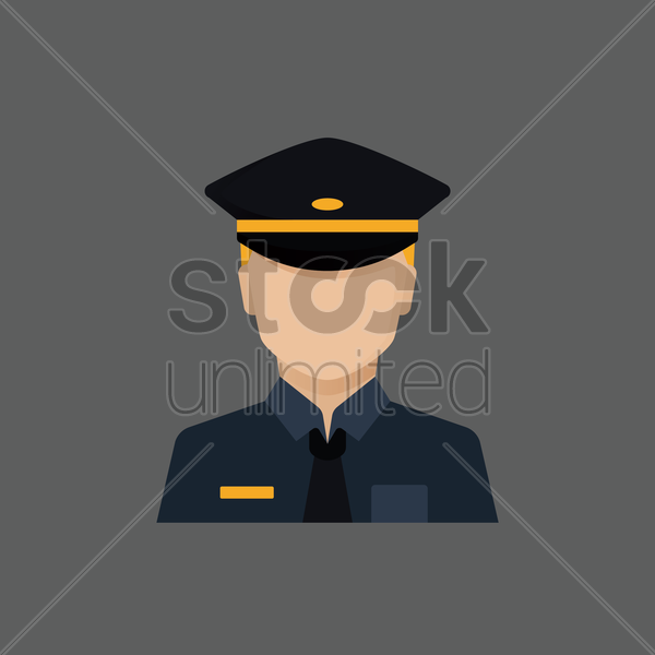 Free policeman vector graphic
