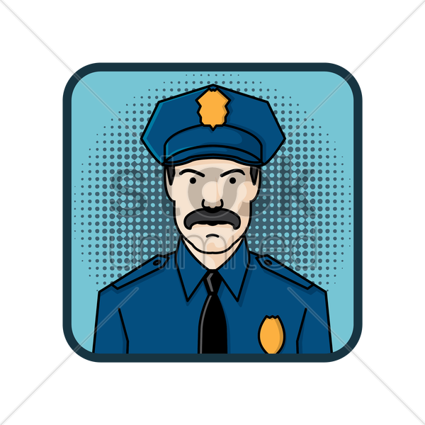 policeman vector graphic