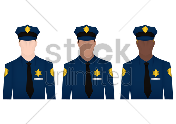policemen vector graphic