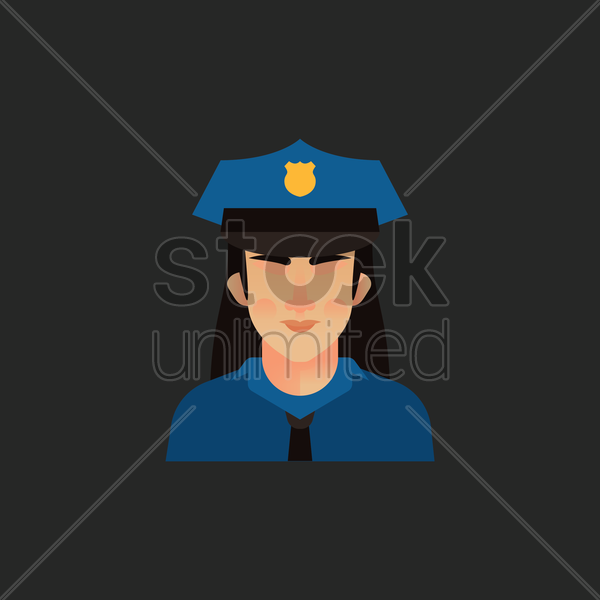policewoman vector graphic