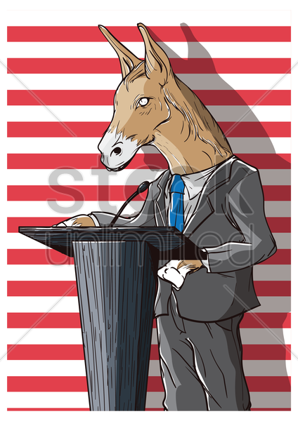 political party design vector graphic