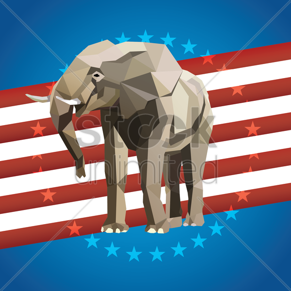 Free political party poster vector graphic