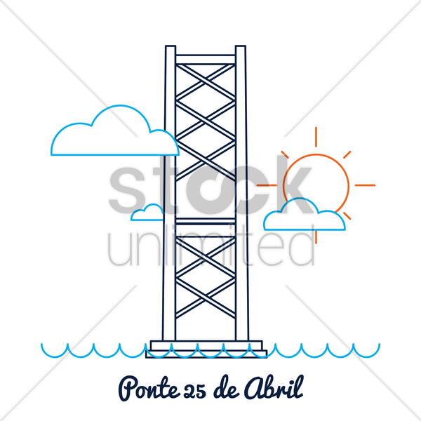 ponte 25 de abril vector graphic
