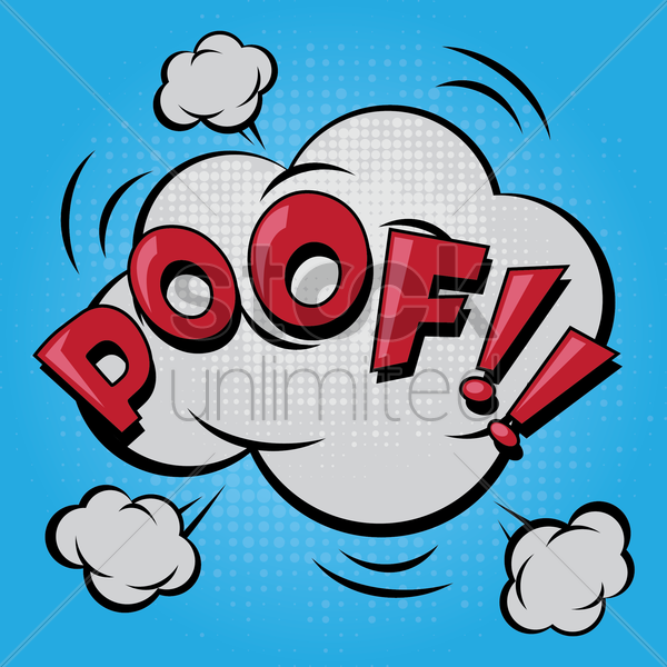 poof comic speech bubble vector graphic