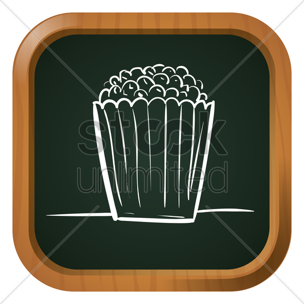 popcorn icon vector graphic