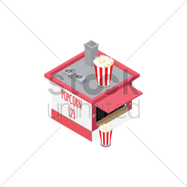 popcorn store vector graphic