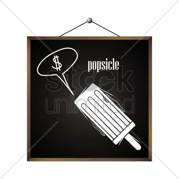 popsicle with dollar sign in speech bubble vector graphic