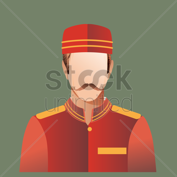 Free porter vector graphic