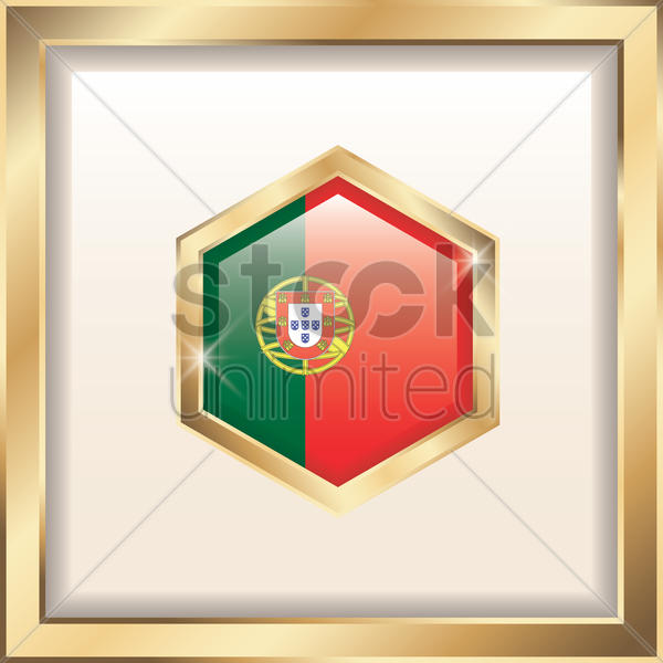portugal badge vector graphic