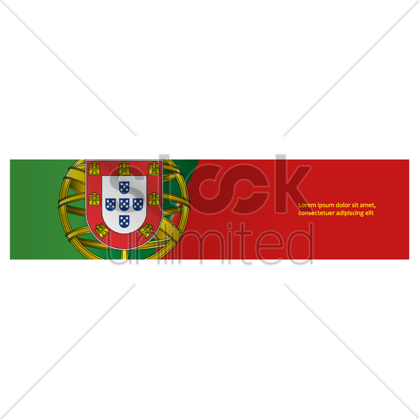 portugal banner vector graphic