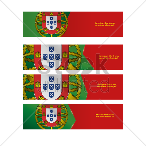 portugal banners vector graphic