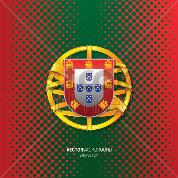 portugal flag background vector graphic