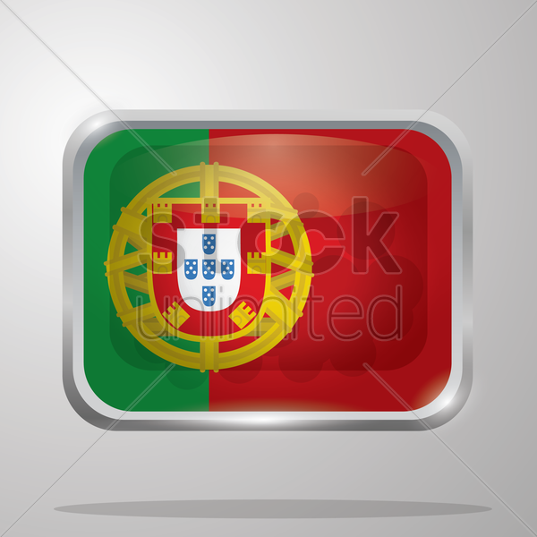 portugal flag vector graphic