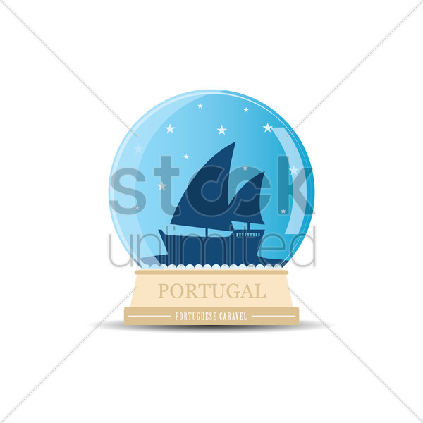 Free portuguese caravel vector graphic