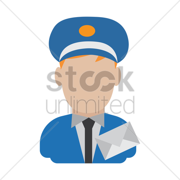 postman vector graphic