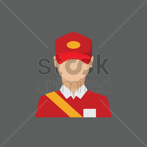 Free postman vector graphic
